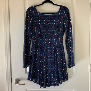 Francesca's Patterned Boho Dress